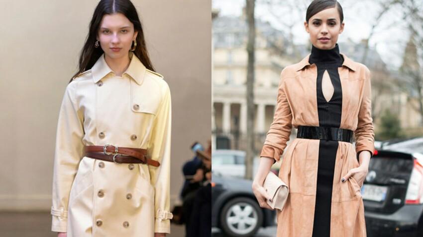 Comment porter une ceinture sur un manteau (et éviter l'effet robe de chambre) ?