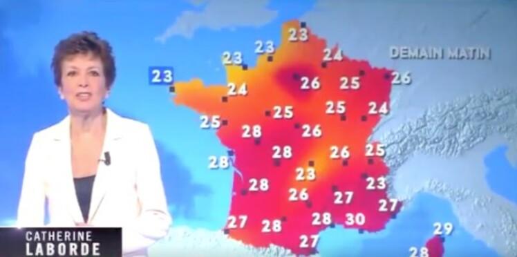 Vidéo - Catherine Laborde, malade, fait un retour surprise à la météo