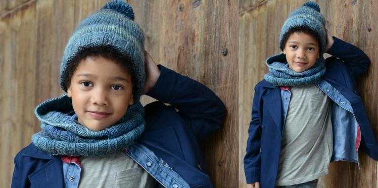 Tricot gratuit : le bonnet enfant en côtes