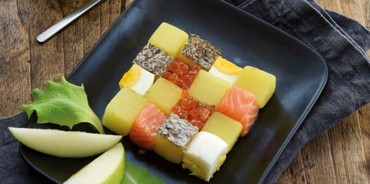 Salade gwennie® au saumon, œufs et aneth