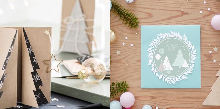 Bricolage De Noël Et Du Nouvel An 3 Cartes De Voeux à