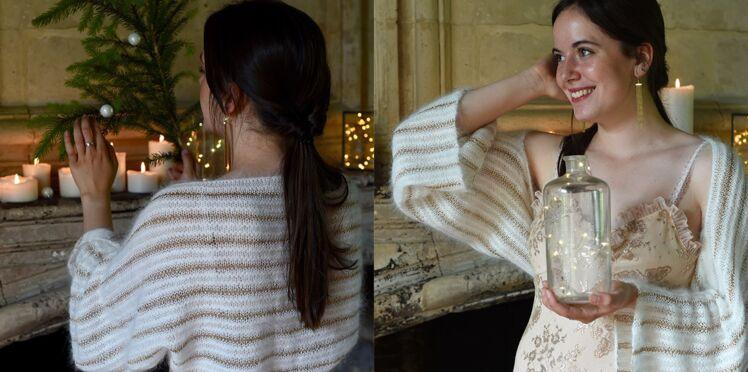 Modèle de tricot facile : un chauffe-épaules élégant au point mousse