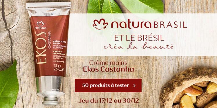Testez la Crème Pulpe Mains Natura Brasil Ekos Castanha