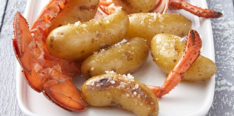 Rattes du Touquet aux sucs de homards