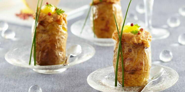 Pompadour Label Rouge farcies au foie gras