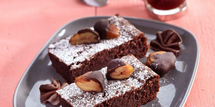 Moelleux au chocolat et châtaignes