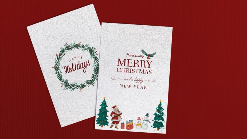 Nos idées de cartes de voeux pour les fêtes