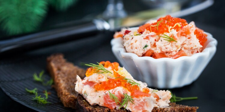 5 bouchées de fête avec du saumon fumé
