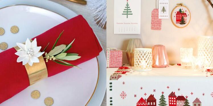 Notre sélection de chemins de table et de ronds de serviette faciles à faire pour Noël