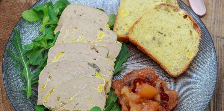 Foie gras et fondue de pommes du limousin aux épices