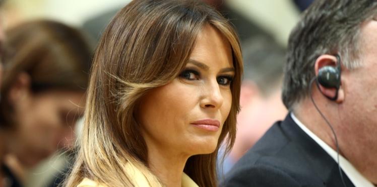 Melania Trump abandonne les talons pour un look militaire détonnant !