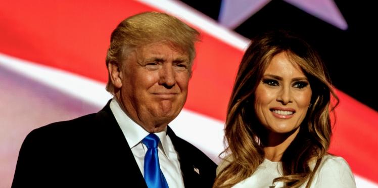 Ce geste étrange entre Melania et Donald Trump qui a mis tout le monde mal à l'aise