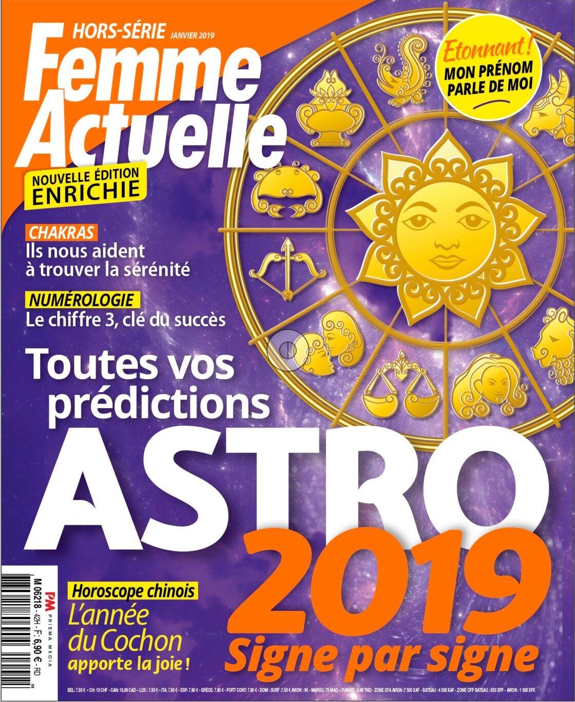 11cab0599d91 Ces prévisions sont issues du dernier Hors-Série Astro de Femme Actuelle,  7,90 euros chez votre marchand de journaux. Retrouvez les prévisions Amour  2019 ...