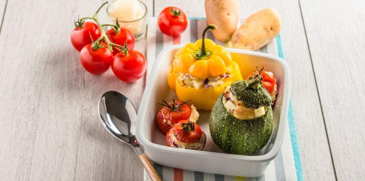 Légumes farcis aux Pompadour Label Rouge gratinés au parmesan