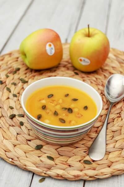 Soupe crémeuse à la pomme du Limousin et à la courge