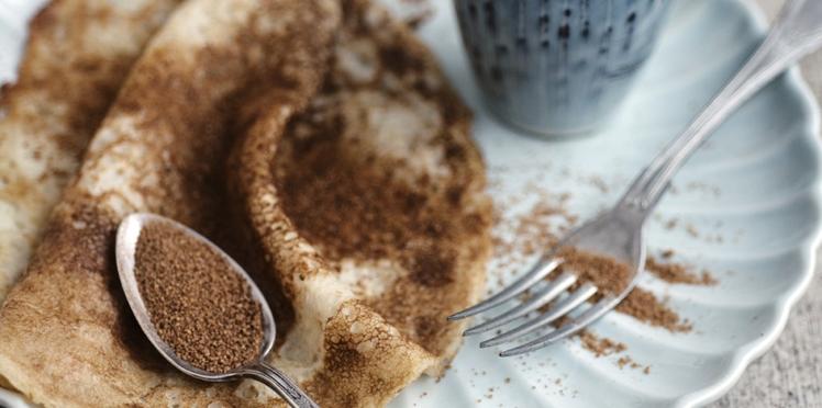 Crêpes à la farine complète, à l'huile de coco et au sucre de fleur de coco