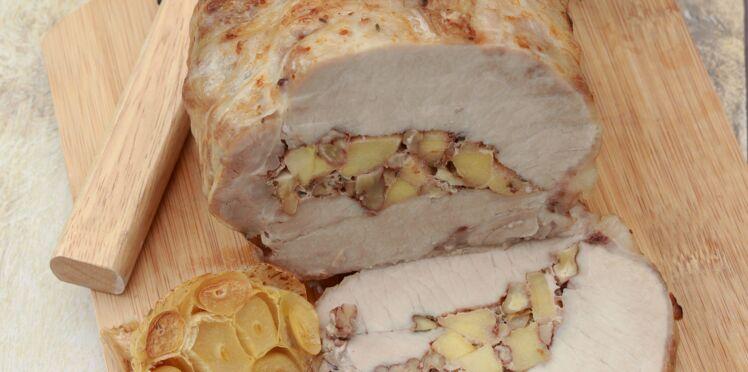 Rôti de porc farçi aux pommes du Limousin