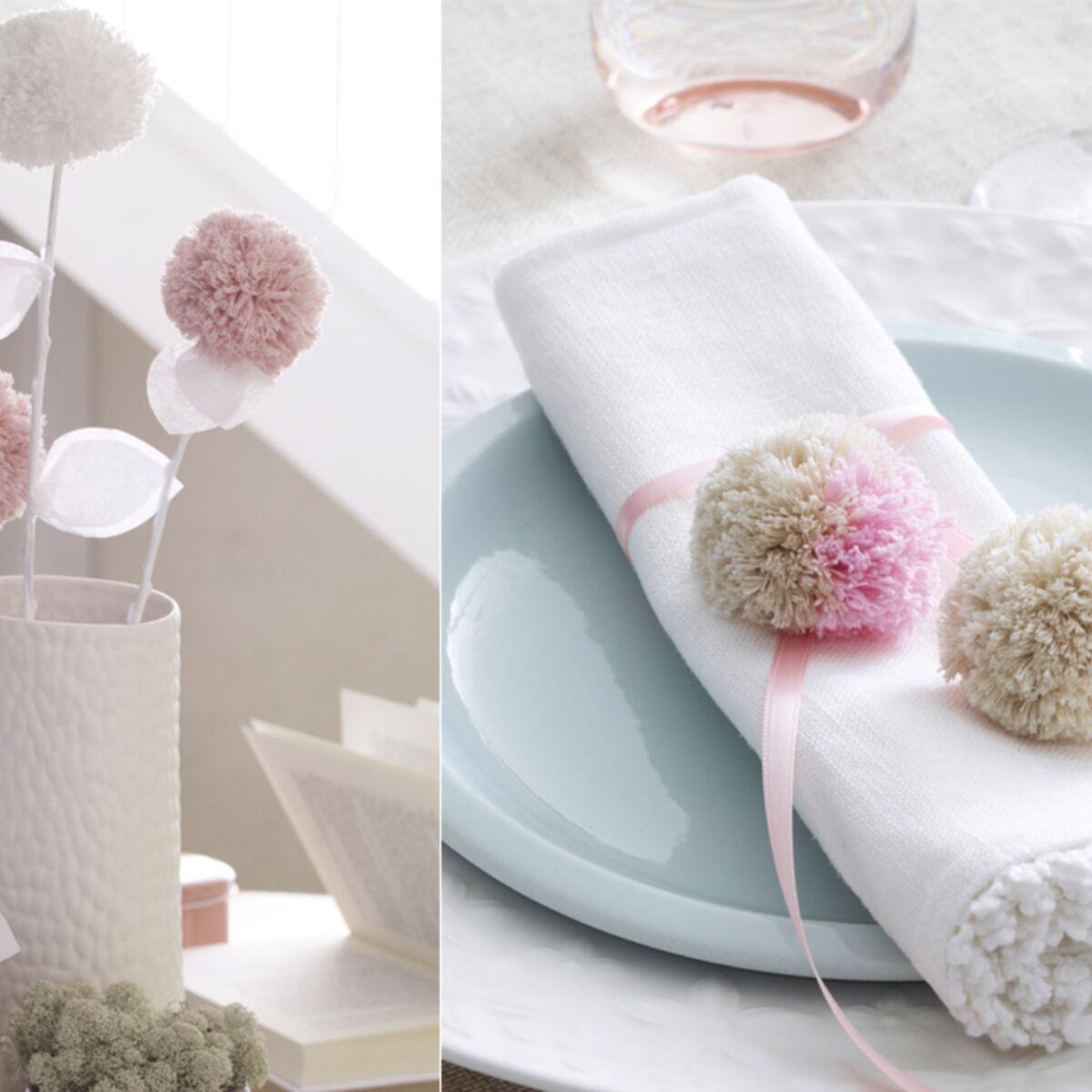 Diy Rond De Serviette diy facile et pas cher : un rond de serviette à pompons pour