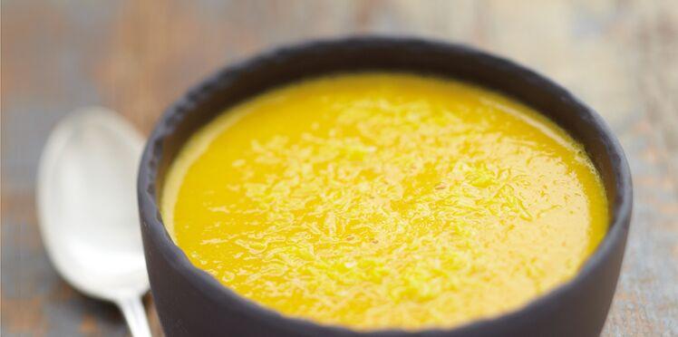 Soupe potiron et lait de coco