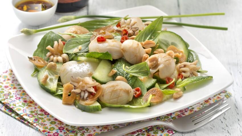 Salade de calamars grillés, sauce soja