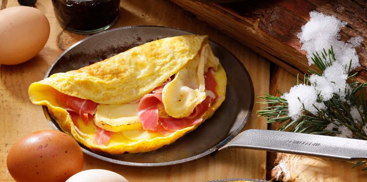 Omelette au reblochon et jambon de montagne