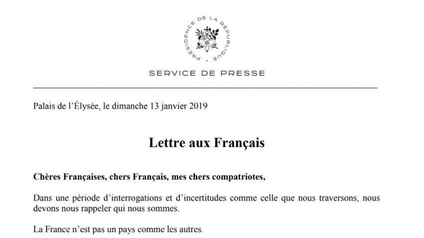 """Ce qu'il faut retenir de la """"Lettre aux Français"""" d'Emmanuel Macron"""