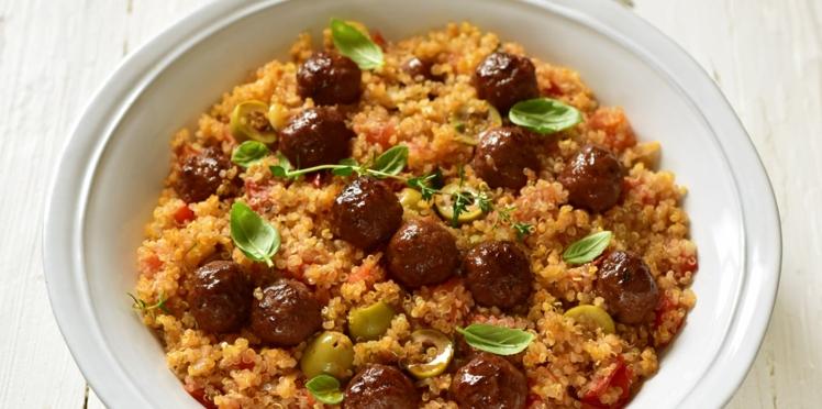Billes de bœuf & quinoa à la provençale