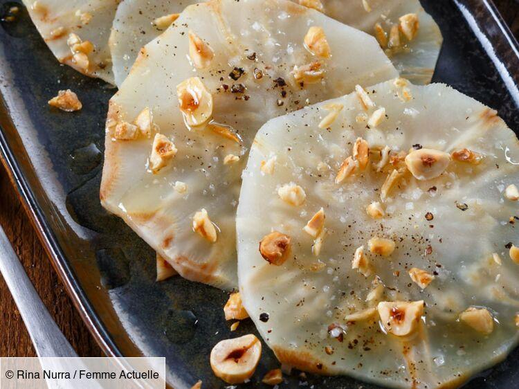 Carpaccio de céleri-rave cuit en croûte de sel : découvrez..