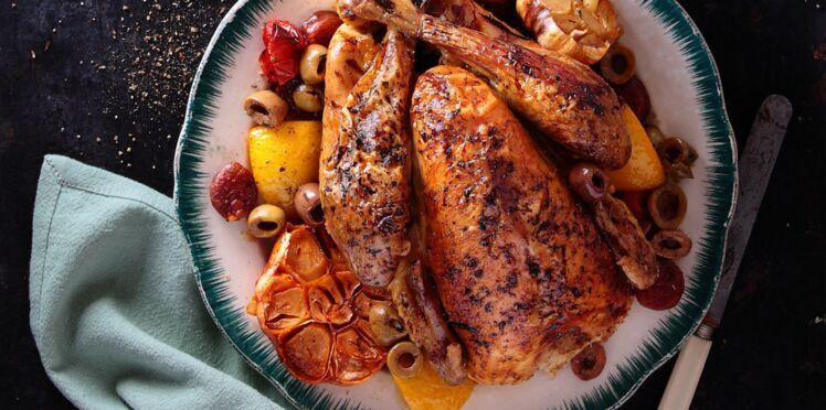 Poulet au chorizo, tomates et olives à la provençale