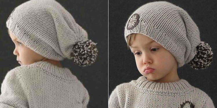 Un bonnet chat à tricoter pour bébé   Femme Actuelle Le MAG 2504ba847d3