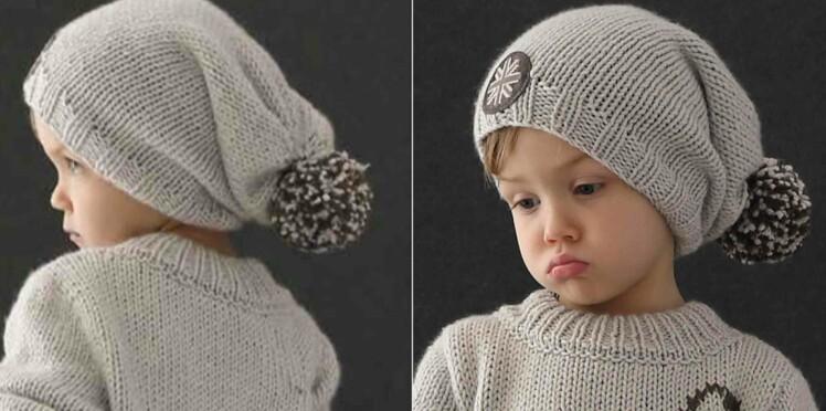 Tricot gratuit : le bonnet loose à pompon