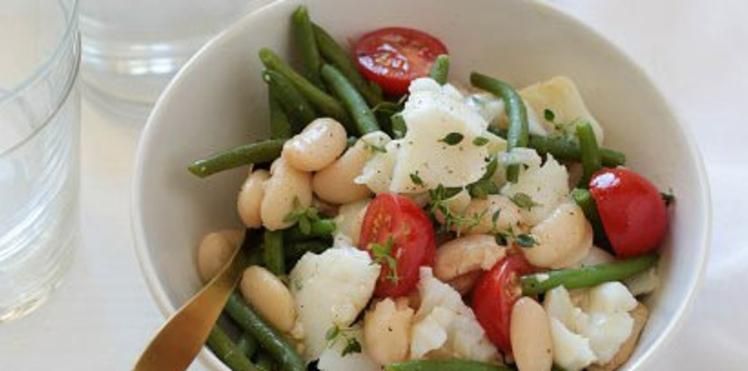 Salade de haricots tarbais à la morue