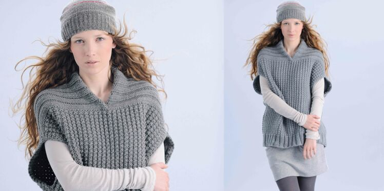 Tricot gratuit : Le pull au point de sable