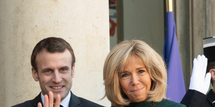Photos – Après des travaux, Emmanuel et Brigitte Macron inaugurent les nouveaux salons de l'Elysée