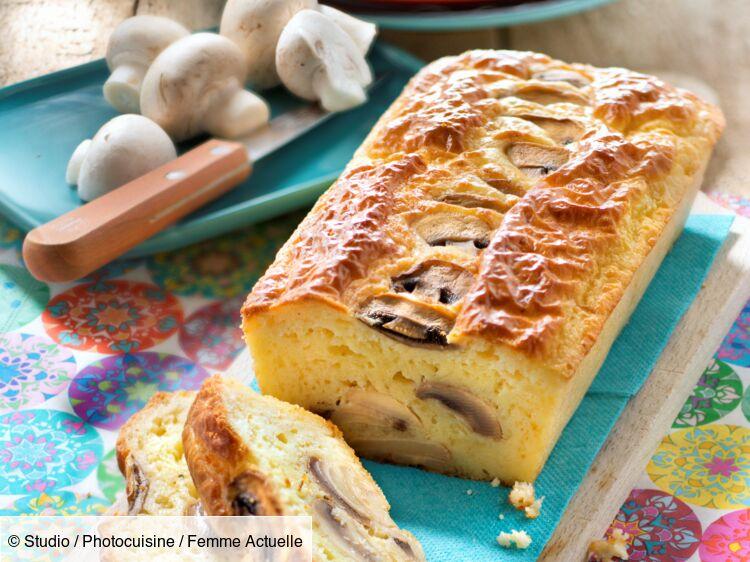 Cake aux champignons de Paris : découvrez les recettes de cuisine de Femme Actuelle Le MAG