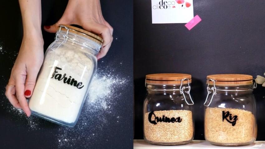 DIY vidéo : Facile et rapide, des bocaux de cuisine personnalisés
