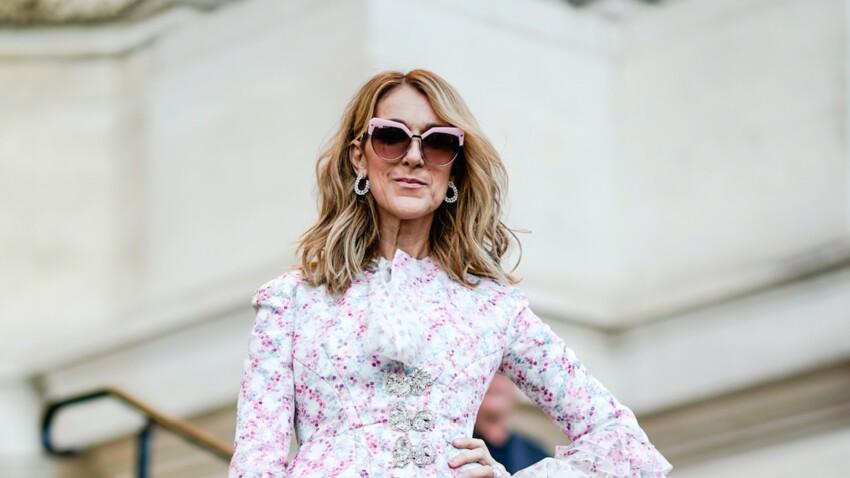 Photos - Céline Dion sans soutien-gorge, son look osé pour la Fashion Week