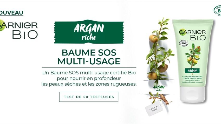 Testez le Baume SOS Multi-usage Argan Riche Garnier Bio