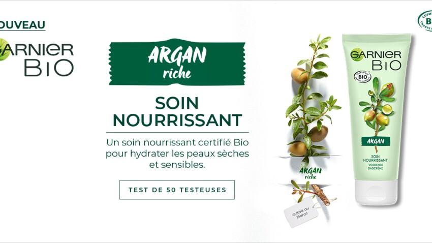 Testez le Soin Nourrissant Argan Riche Garnier Bio