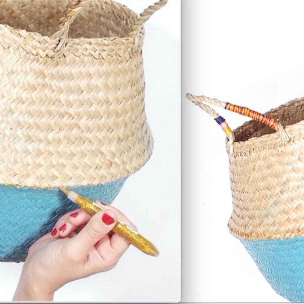 Peindre Un Panier En Osier diy vidéo : facile et rapide, un panier en osier