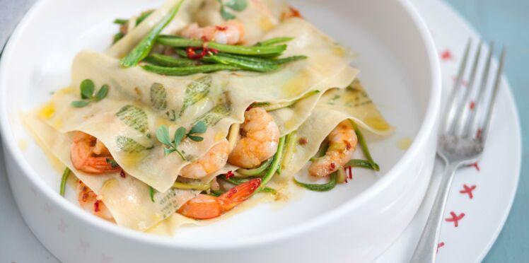 Lasagnes asiatiques aux crevettes