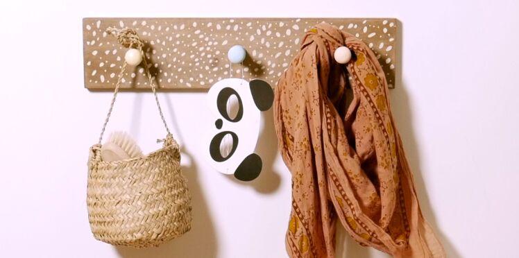 DIY vidéo : facile et rapide, décorer une patère en bois