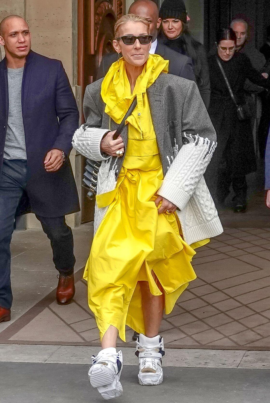 e8674e40ce Céline Dion : deux tenues improbables dans la même journée. Stylées ...