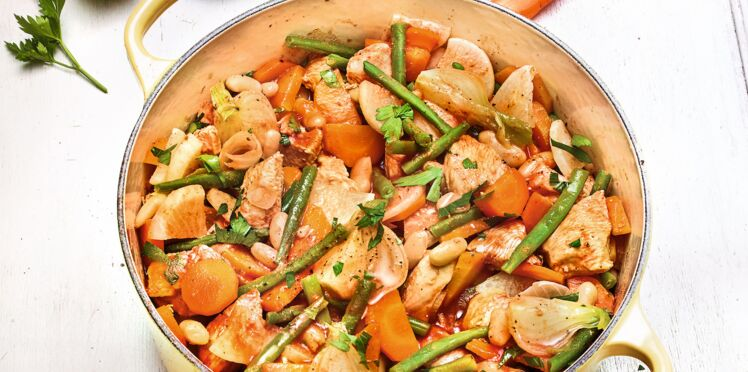 Recette Weight Watchers : Navarin de poulet