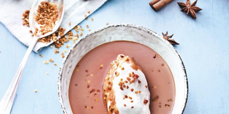 Recette Weight Watchers : Iles flottantes chocolat-pralin