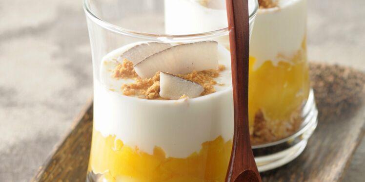 Trifle-coco aux fruits exotiques