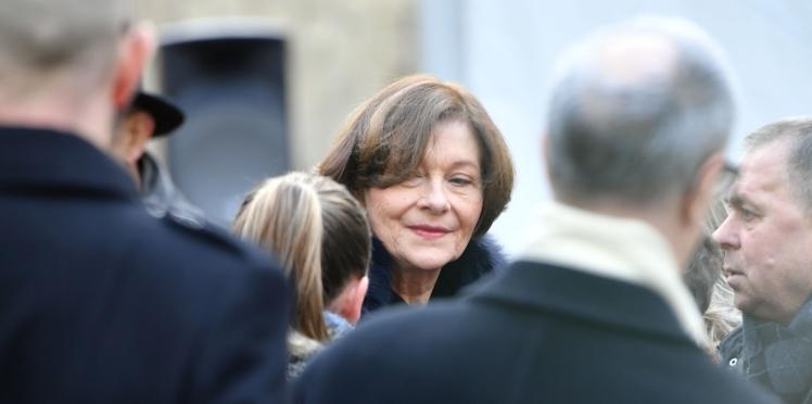 Photos - Obsèques de Michel Legrand : Macha Méril très affectée, Brigitte Macron présente pour la soutenir