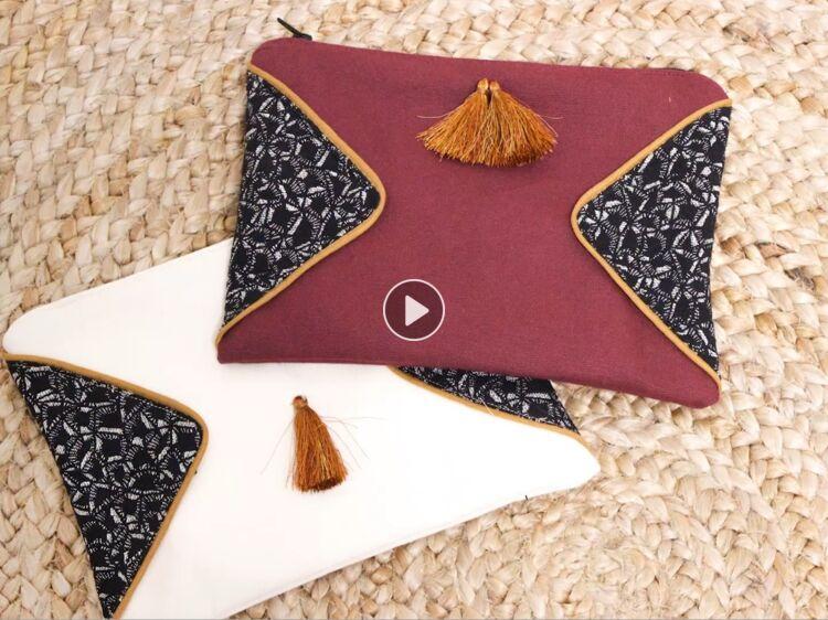 coudre un passepoil et un zip sur une pochette femme. Black Bedroom Furniture Sets. Home Design Ideas