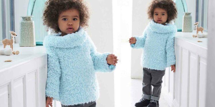 Tricot gratuit : le pull enfant avec snood