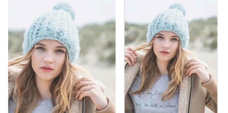 Tricot gratuit : le bonnet en côtes torses